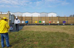 Les 10 ruches des Greeners sont installée dans l'enceinte de l'entreprise (photo S. Nivesse)