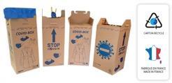 La covid box est proposée par Cosmolys aux collectivités » ou aux entreprises pour collecter les masques (Crédit Cosmolys)
