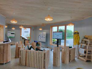 L'intérieur de la maison Demain est aussi un lieu d'échange et de convivialité pour les greeners (Photo Greeners)