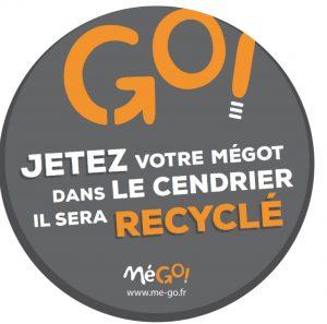 Un partenariat avec l'entreprise « Mego ! » qui a permis d'installer des cendriers de collecte un peu partout dans la ville (Crédit T. Fremond)
