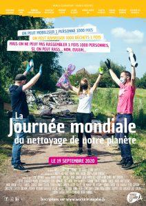 Affiche de la campagne pour la journée mondiale du nettoyage des déchets le 19 septembre 2020 organisée partout en France par le world clean up day.(Crédit photo worldcleanupday)