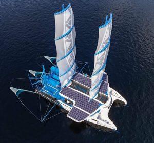 Le Manta ( Sea Cleaners) sera capable de ramasser 3 tonnes de macrodéchets par heure pour les transformer en énergie (Photo Sea Cleaners)